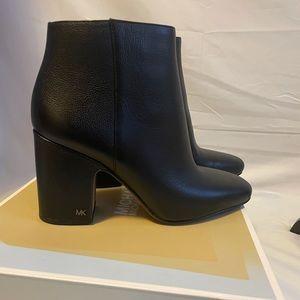 BNIB MK leather Booties